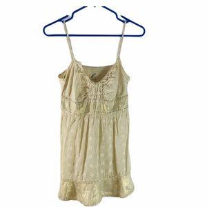 Free People Tan Beige Sequin Embellished Cami Top